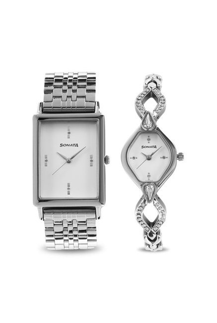 Sonata NK770038063SM01 Wedding Analog Couple Watch