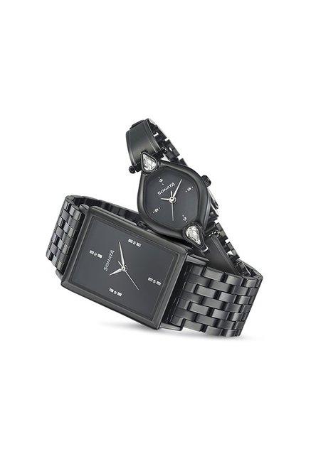 Sonata 770038063NM01C Wedding Analog Couple Watch (770038063NM01C)