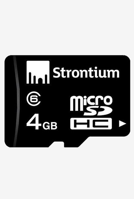 Strontium 4GB MicroSDHC Memory Card (Black)