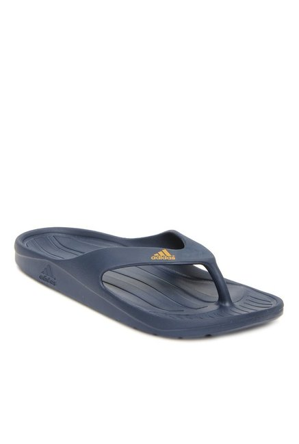 c7b47a6b7f44 Buy Adidas Duramo Navy Flip Flops for Men at Best Price   Tata CLiQ