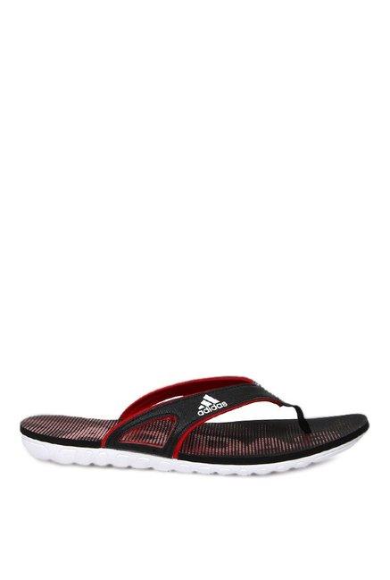 d282be26c38 Buy Adidas Calo 5 GR Black   Red Flip Flops for Men at Best Price ...