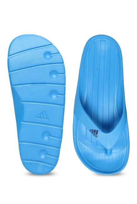 fac19885a126d Buy Adidas Duramo Sky Blue Flip Flops for Men at Best Price   Tata CLiQ