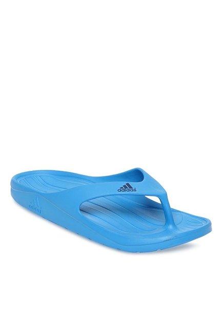 23a6fbe458c8 Buy Adidas Duramo Sky Blue Flip Flops for Men at Best Price   Tata CLiQ