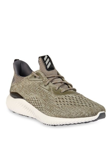 best service a7d16 bab60 Buy Adidas Alphabounce EM Olive Running Shoes for Men at ...