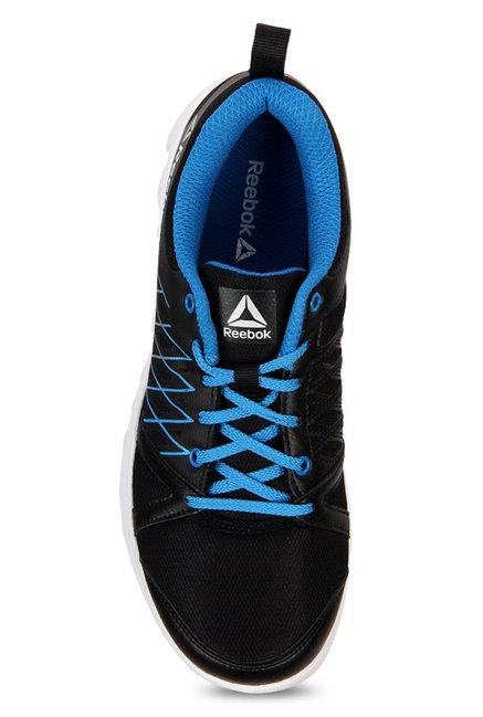 Buy Reebok Pulse Run LP Black   Cycle Blue Running Shoes for Men at ... de27ae7b6