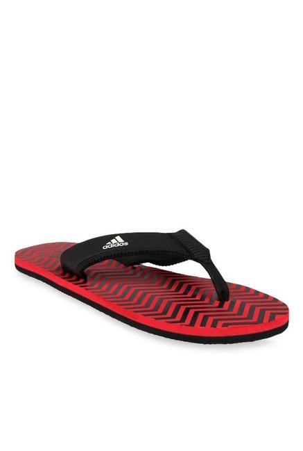9e20f5ea2c6032 Buy Adidas Inert Black   Red Flip Flops for Men at Best Price   Tata CLiQ