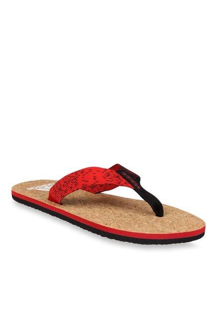 72aa91a393c4 Buy Adidas Beach Cork Red   Black Flip Flops for Men at Best Price ...