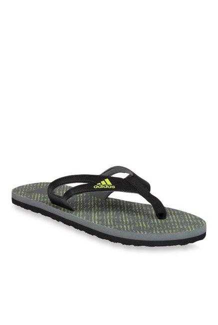 6c62cc25163174 Buy Adidas Ozor II Black   Grey Flip Flops for Men at Best Price   Tata CLiQ