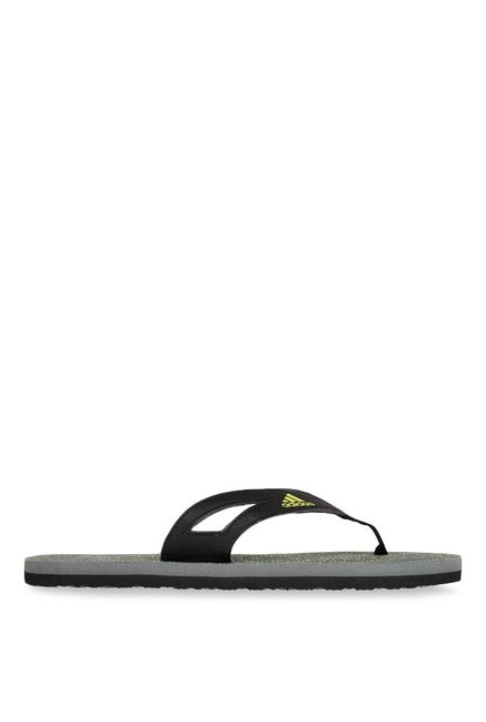 closer at cheap prices dirt cheap Buy Adidas Ozor II Black & Grey Flip Flops for Men at Best Price ...