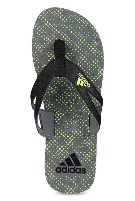 b8adcf4bd43cb Buy Adidas Ozor II Black   Grey Flip Flops for Men at Best Price ...