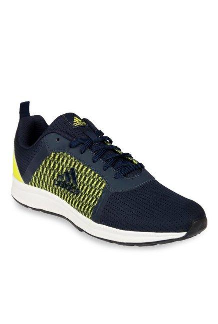 comprare adidas erdiga marina & verde lime scarpe da corsa per gli uomini