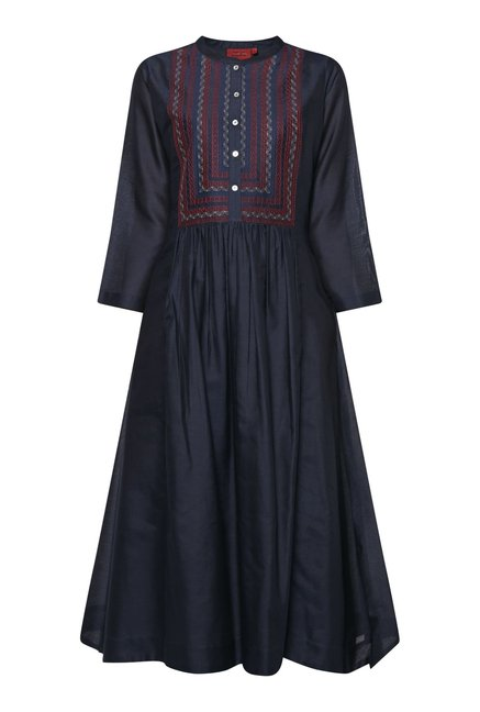 Zuba by Westside Navy Kurta with Inner