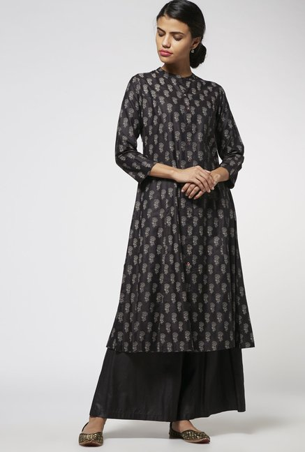 Zuba by Westside Black Kurta
