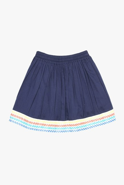 12ddd3cdb Buy US Polo Navy Solid Gathered Skirt for Girls Clothing Online ...