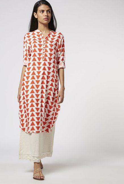 Utsa by Westside Coral High-low Kurta
