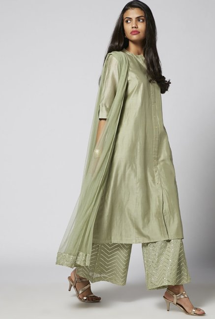 Vark by Westside Sea Green Ethnic Set