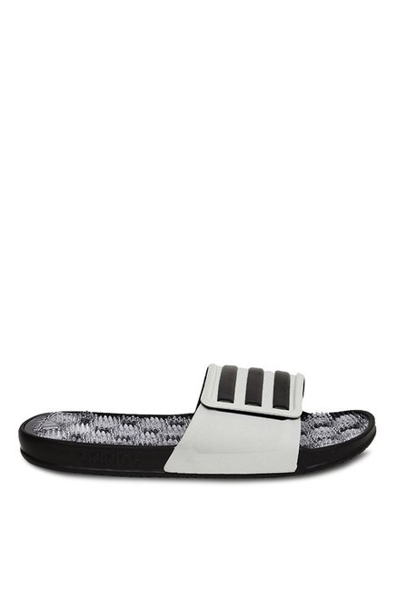 6df568759158 Buy Adidas Adissage 2.0 White   Black Casual Sandals for Men at Best ...
