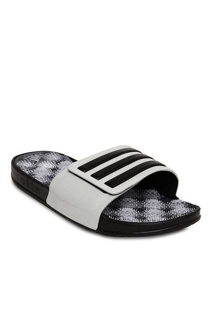 88285c30e2b1 Buy Adidas Adissage 2.0 White   Black Casual Sandals for Men at Best Price    Tata CLiQ