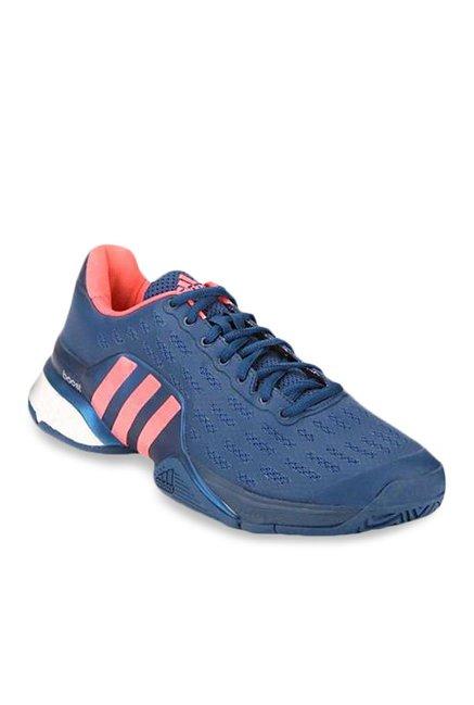 online store 59a30 7a02e Buy Adidas Barricade 2016 Boost Blue   Peach Tennis Shoes for Men at Best  Price   Tata CLiQ