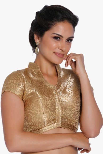 Soch Gold Printed Brocade Blouse