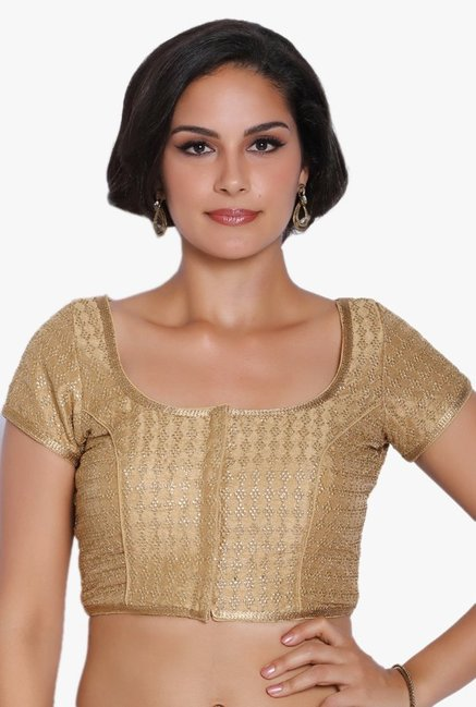Soch Gold Embroidered Dupion Blouse
