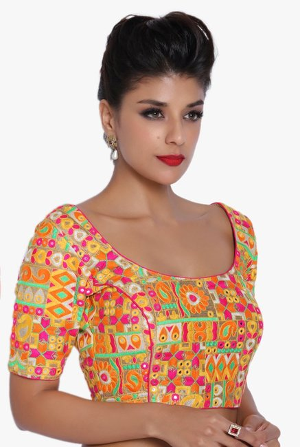 Soch Multicolor Embroidered Dupion Blouse