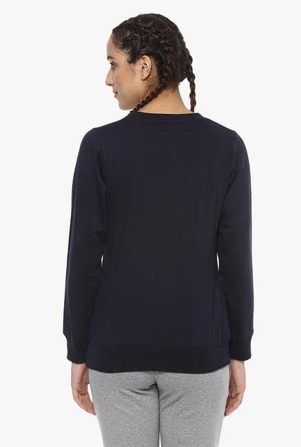 Cayman Navy Printed Sweatshirt
