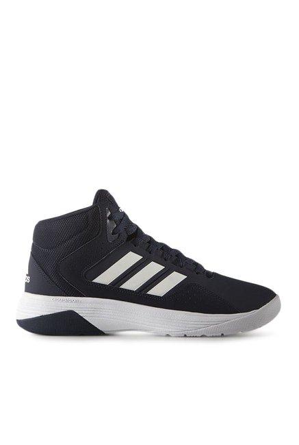 Adidas Neo Cloudfoam Ilation Mid Navy Basketball Shoes
