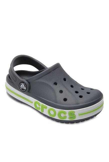 630b0aa4e Buy Crocs Kids Bayaband Charcoal Back Strap Clogs for Boys at Best ...