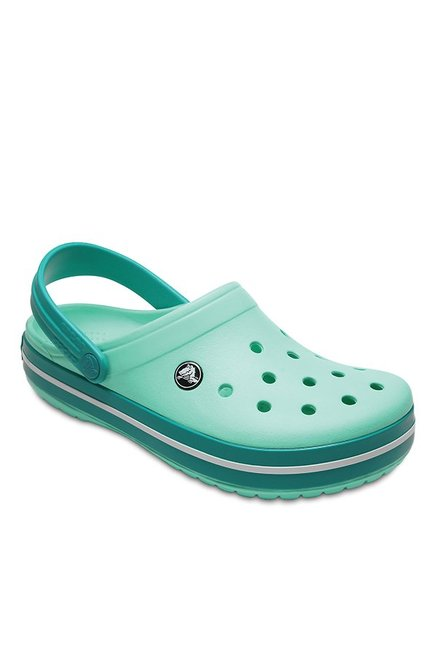 7afc687a Buy Crocs Crocband New Mint & Tropical Teal Back Strap Clogs for ...