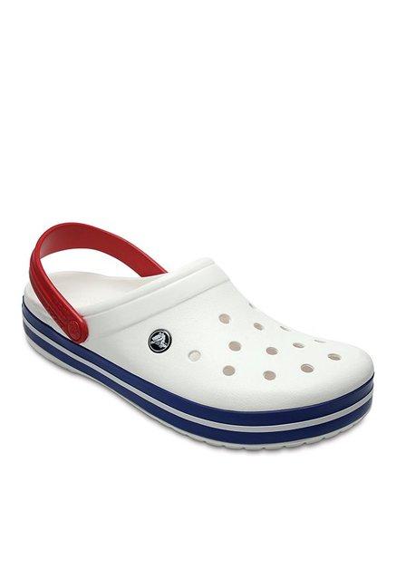 Buy Crocs Crocband White \u0026 Blue Jean