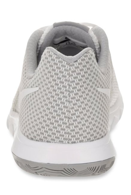 2032eb9fa3a1 Buy Nike Flex Experience RN 6 White   Light Grey Running Shoes for ...