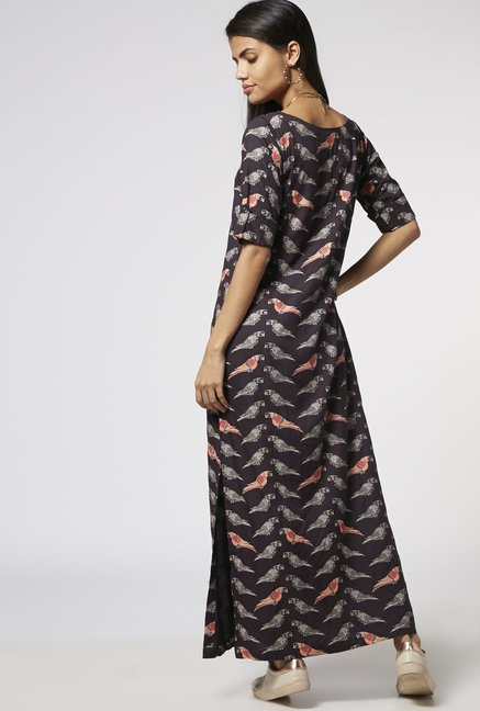 Bombay Paisley by Westside Dark Grey Dress