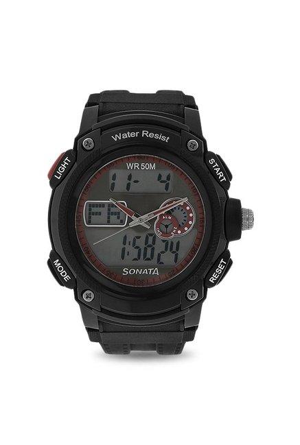 Sonata NH7989PP03J Ocean Analog Digital Multi Color Dial Men's Watch