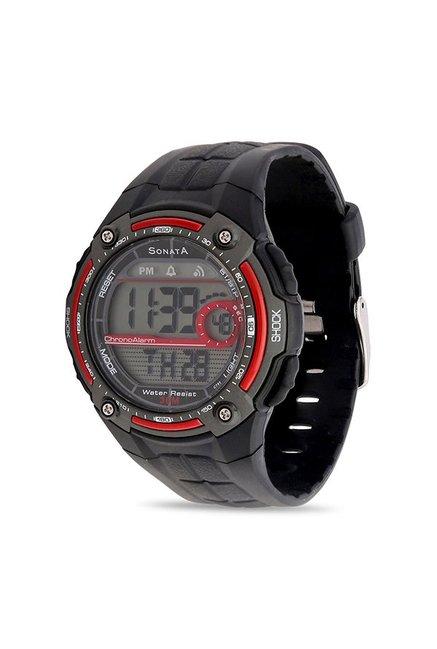 Sonata NH7949PP01J Super Fibre Digital Men's Watch