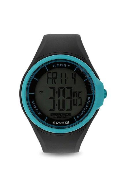 Sonata NH7992PP12J Ocean Digital Grey Dial Men's Watch