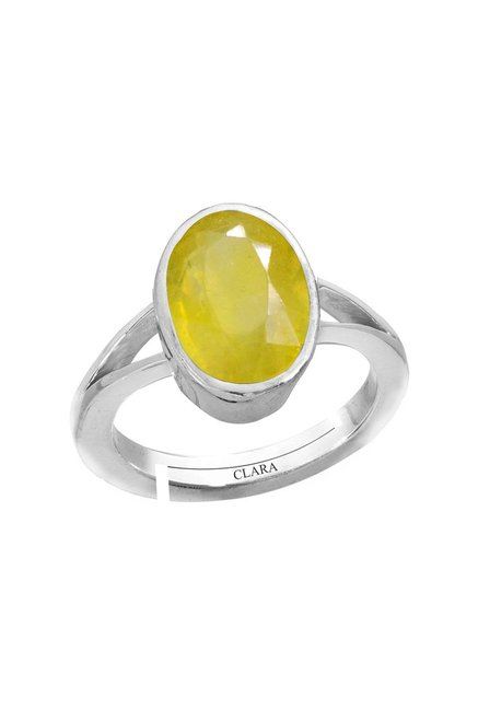 9a4e8503b Buy Clara Yellow Sapphire Pukhraj 4.8cts or 5.25ratti Ring for Men At Best  Price @ Tata CLiQ