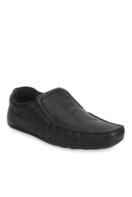 Red Tape Black Casual Slip-Ons
