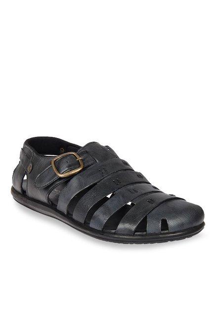 137277154c08 Buy Franco Leone Black Fisherman Sandals for Men at Best Price   Tata CLiQ
