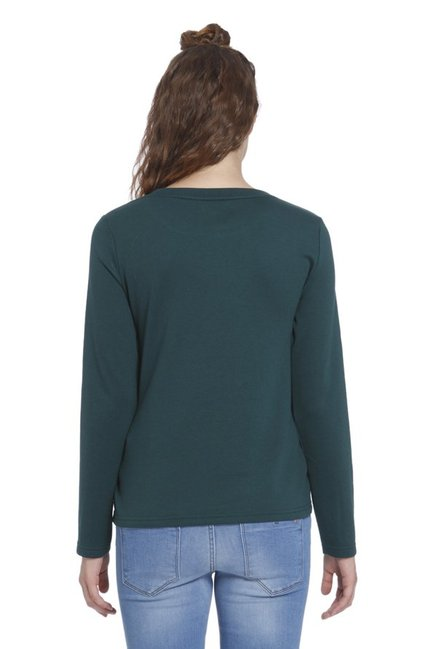 Only Green Embellished Sweater