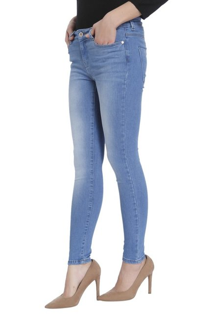 Only Blue Regular Fit Lightly Washed Jeans