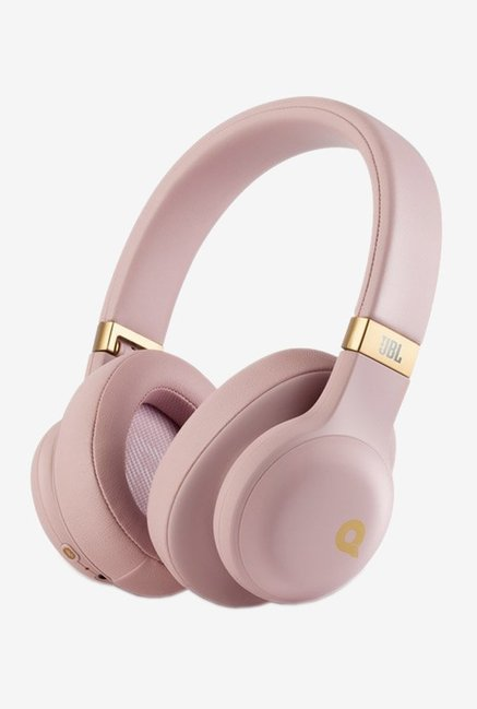 JBL E55BT Quincy Edition Bluetooth Headphones, Pink