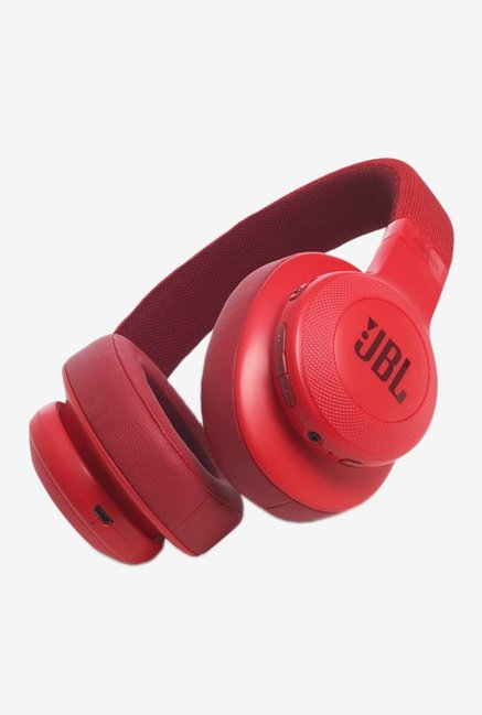 JBL E55BT On-Ear Headphones, Red