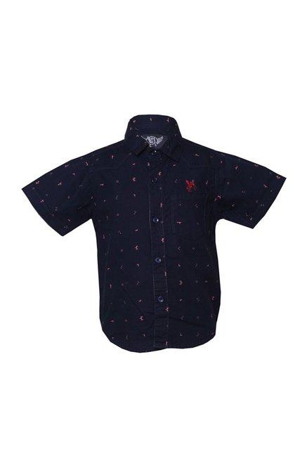 0ec2402de9 Buy Tales & Stories Navy & Pink Printed Shirt for Boys Clothing Online @  Tata CLiQ