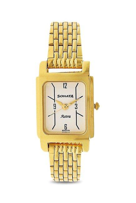 Sonata 87021YM03 Analog Watch for Women
