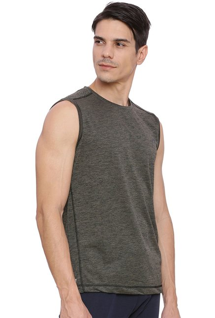 Proline Red & Grey Sleeveless T-Shirt (Pack Of 2)