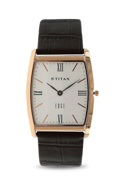 Titan Edge Analog White Dial Men's Watch, 1044WL01