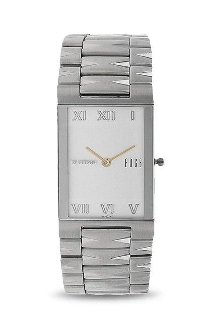 Titan Edge Analog White Dial Men's Watch, 1296SM01