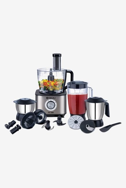 Bajaj FX1000 1000 Watts Food Processor (Black)