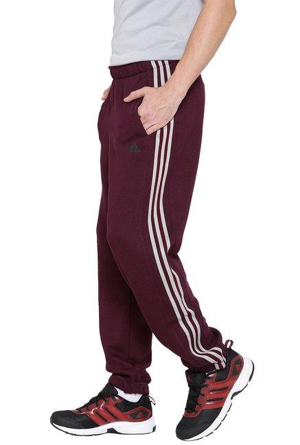 sale retailer 8c08c 7dfc5 Adidas Burgundy Mid Rise Joggers